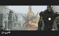 Ironman (Tyler Mulville) Tags: art robert digital tank explosion jr ironman tony tyler frame third marvel stark downey adobeillustrator mulville