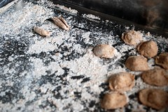 Making Orecchiette (caprilemon) Tags: winter pasta homemade puglia lazysunday orecchiette wholewheat azzurra winterfood byac