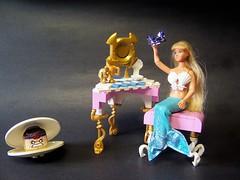 There you are Princess Shella! (monsterbrick) Tags: lego princess vanity clam crown mermaid moc shella