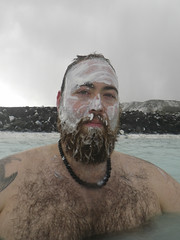 White silica mud mask (Martin Lopatka) Tags: trip travel blue vacation colour me water island iceland spring martin mask mud vivid lagoon mudmask volcanic geothermal