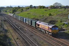 DBS/EWS 66031 @ Pilning (AJHigham) Tags: train shed tunnel db 66 class severn exit enterprise dbs schenker pilning 66031