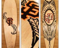 Custom Hand painted (longboardsusa) Tags: usa hand painted skate custom skateboards longboards longboarding