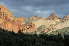 Sun? Is that sun I see? (rozoneill) Tags: lake oregon river carlton butte desert hiking painted canyon vale trail backpacking saddle blm uplands owyhee honeycombs
