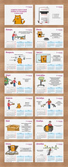 Calendar with cats for a lawyer (infostep_infostep) Tags: cats illustration calendar lawyer informationdesign infographics infostep