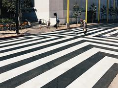 crosswalk v2.0 (howard-f) Tags: street urban blackandwhite bw abstract lines santamonica streetphotography crosswalk urbanphotography expositionline expolinesantamonica