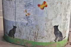 Nemo_2097 place du 21 avril 1944 Saint Denis (meuh1246) Tags: streetart paris chat nemo papillon animaux saintdenis placedu21avril1944