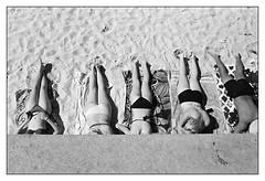 last days of summer  #100 (lynnb's snaps) Tags: summer film beach sydney apx100 agfa rodinal sunbathers 2016 leicaiiic cv35mmf25ltm
