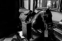 untitled (Eric Baggett) Tags: monochrome noiretblanc antique forgotten cherokeestreet bnw blackhorse blackandwhitephotography bwphotos mechanicalhorse leicaxvario