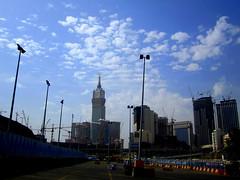 Abraj Al-Bait Clock Tower (A[A]A) Tags: sky bus station clouds clocktower saudiarabia mecca makkah ksa abrajalbait