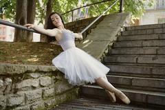 resting (Pelayo Gonzlez Fotografa) Tags: street portrait ballet woman female stairs calle dance mujer ballerina retrato danza dancer tutu escaleras pointes bailarina exteriores sofiagonzalez dancethistown
