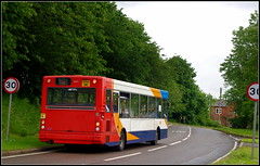 Stagecoach 34643 (Lotsapix) Tags: bus pointer dennis dart stagecoach midlands 96 longbuckby plaxton 34643 gx54dwo
