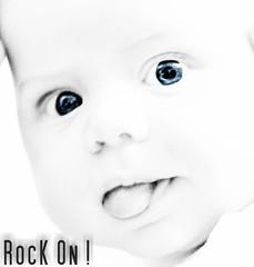 Let's RocK !!! (iggyshoot) Tags: portrait people blackandwhite bw baby monochrome reflex nikon noiretblanc nb highkey personne d610 noietblanc hightkey fondblanc