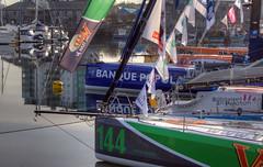 TransAt Yachts 30th April 2016 #13 (JDurston2009) Tags: reflection green sailing yacht plymouth barbican devon 144 sailingboat suttonharbour transat transatbakerly