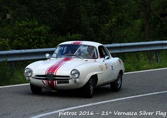DSC_6614 - Alfa Romeo Giulietta Sprint Speciale - 1961 - Macchi Pierre - ASAVE (pietroz) Tags: silver photo foto photos flag historic fotos pietro storico zoccola 21 storiche vernasca pietroz