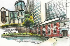 Bishop's House, Hong Kong Fringe Club and Foreign Correspondents' Club (Gary Yeung HK) Tags: house heritage club hongkong central fringe bishops foreign correspondents urbansketches urbansketchers