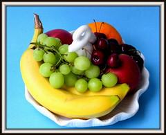 Fruit assortment (diffuse) Tags: orange apple fruit cherry five bowl banana grape 116
