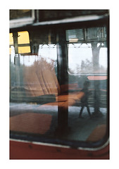 (Rick van der Klooster) Tags: film analog train photography 50mm nikon moody rainy 35mmfilm kodakfilm refelections