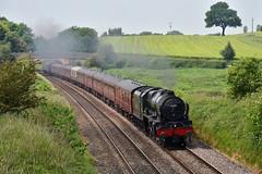 Cheshire Scot (wwatfam) Tags: railroad england cheshire britain royal trains class scot locomotive express passenger railways fowler excursion scots rebuilt bunbury lms guardsman stanier 46115