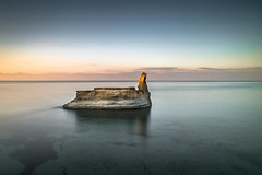 Last Light (Number Johnny 5) Tags: light sunset shadow seascape reflection island nikon long exposure greece d750 tamron corfu 2016 2470mm