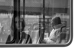 as life passes by... (RaminN) Tags: people max oregon train reflections portland streetphotography