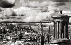 Edinburgh Clouds (albireo 2006) Tags: uk unitedkingdom greatbritain blackwhitephotos blackandwhite blackandwhitephotos blackwhite bw bn nb pb edinburgh sea scotland scozia ecosse caltonhill dugald stewart mon dugaldstewartmonument