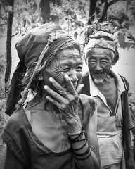 True Love (b&w version) (Studio Yuki) Tags: travel nepal portrait blackandwhite bw love couple asia happiness romantic nepalese oldpeople ethnic truelove fineartphotography manandwoman manandwife travelphotography coupleinlove nepalesecouple