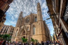 Santa Mara del Mar, Barcelona (Spain), HDR 3 (marcp_dmoz) Tags: barcelona people espaa church architecture photoshop mar spain arquitectura nikon exterior map gothic perspective iglesia kirche wideangle catalonia medieval personas handheld architektur santamaria perspectiva catalunya nikkor 1735mmf28d tone hdr catalua spanien perspektive personen mediaeval granangular gotisch weitwinkel mittelalter santamariadelmar gotica photomatix tonemapped tonemapping tonemap d700