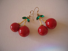 Cherries Earrings (Bracelets To Buckles) Tags: vintage cherry earrings