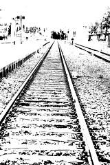 Vanishing Point (gripspix (BUY BUY! OFF NOW!)) Tags: photoshop germany deutschland vanishingpoint tracks bahnhof effect balingen geleise badenwrttemberg zentralperspektive bahngelnde fluchtpunkt 20120407