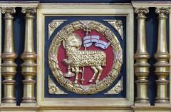 Agnus dei - Lamb of God (pefkosmad) Tags: york church yorkshire altar yorkminster minster agnusdei picnik lambofgod altardetail march2012