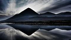 Sligachan - Skye (nodrogel) Tags: mountain reflection skye sunrise mirror scotland loch cuillin sligachan