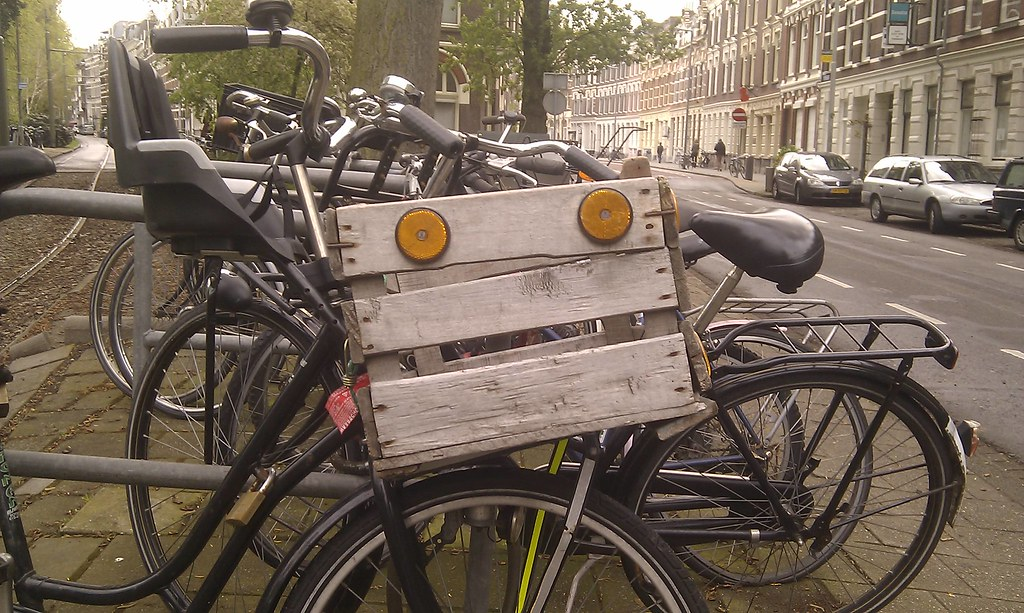 Rotterdam bicycle crate face