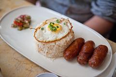 DSC_7896 (KayOne73) Tags: new york nyc food out lens lunch restaurant nikon rice zoom manhattan g egg sausage eat f garlic brunch filipino dining 28 mm dine nikkor afs eater maharlika 2470 d700 longsilog sinangag