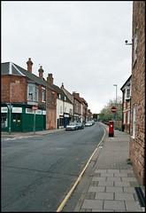 Church Street, Gainsborough (tatraškoda) Tags: old uk england urban history film 35mm geotagged town nikon lincolnshire analogue churchstreet f5 c200 fujicolor tatraskoda
