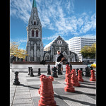 City of ChristChurch & Her Proud Standing Cathedral, South Island, New Zealand :: HDR