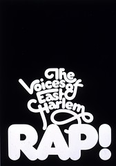 The Voices Of East Harlem Rap! poster (Herb Lubalin Study Center) Tags: poster 1970 lubalin herblubalin thevoiceofeastharlem