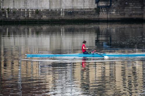 Rowing On The River Lagan: Belfast - Northern Ireland