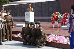 Female soliders (KoryoTours) Tags: birthday travel woman tourism female women military group korea parade celebration april northkorea 2012 solider pyongyang dprk 100year koryotours koryogroup