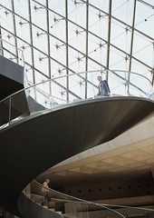 Up and Down (Karine Sunshine) Tags: paris stairs turn escaliers colimaon pyramidedulouvre