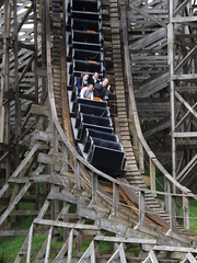 Approaching the Bottom of the First Drop (CoasterMadMatt) Tags: park wood uk greatbritain bridge west wales out photography amusement wooden spring day ride photos unitedkingdom britain united great cymru may kingdom tourist photograph gb roller theme amusementpark british leisure rides rollercoaster welsh oakwood sir coaster parc pembrokeshire themepark touristattraction leisurepark cci attraction coasters narberth 2012 mega dayout sirbenfro benfro fobia west aspro hamdden megaphobia oakwoodthemepark sir megafobia canaston gorllewin canastonbridge coastermadmatt gorllewin waleslargestthemepark parchamddenoakwood