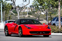 Norwegian Man with a French Girl in an Italian Italia. (AESDUB) Tags: santa red black macro cars lens san italia 5 awesome 4 8 diego ferrari exotic fe rancho sante legit 458 bicolore d5100