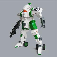 Tentō A12 - Ground Class (Fredoichi) Tags: lego space military police walker micro mecha mech microscale fredoichi gundamtype patlabortype