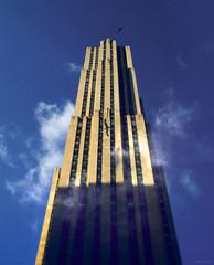 T O W E R (B R A N D) Tags: christmas xmas city pink newyork building tree skyscraper radio canon nbc lights