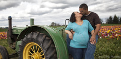 Michelle & Jeremiah (anthonymayphotography) Tags: tractor oregon tulips or pacificnorthwest pnw johndeere woodburn pacificnw woodenshoetulipfestival maternityphotography