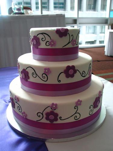 Lovely Lavender wedding cake