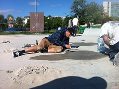 Rune Glifberg working hard to get the park finished in time for the re-opening. (burn // burn Studios) Tags: poland save spot burn rune glifberg