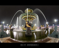 Fontaine des fleuves (Gskill photographie) Tags: longexposure paris france water night sigma noflash fisheye fontaine hdr poselongue fleuves fontainedesmers gskill 60d canon10mm hdraward