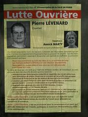 Pierre Lvenard (emmanuelsaussieraffiches) Tags: poster political politique affiche lutteouvrire
