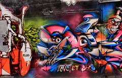 'Loveletters' - Street Art, Melbourne, Victoria (Black Diamond Images) Tags: streetart mural australia melbourne victoria publicart hosierlane loveletters australianmurals doesnash doesnash2012
