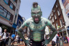 Street Performance World Championship 2012. Iconic international performer The Lizardman is one of this years 16 street performance finalists who launched the Laya Healthcare Street Performance World Championship in Dublin. Photo: Leon Farrell/Photocall Ireland